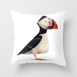 Puffin Throw Pillow