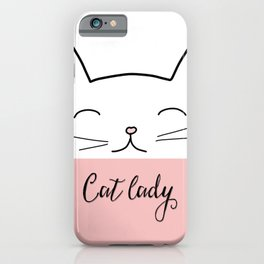 Cat lady iPhone Case