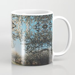 Cherry Blossoms Photographic Pattern Coffee Mug