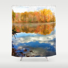 French Creek Colors Shower Curtain