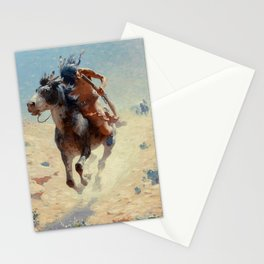 "William Leigh Western Art ""Indian Rider"" Stationery Cards"