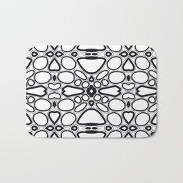 fancy grid Bath Mat