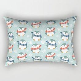 Winter penguins pattern Rectangular Pillow