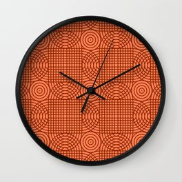 Op Art 18 - Coral Wall Clock