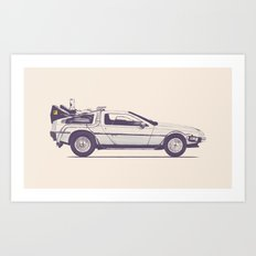 Famous Car #2 - Delorean Art Print