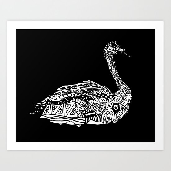 Dragon Swan  Art Print