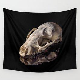 Raccoon Skull Reflection Wall Tapestry