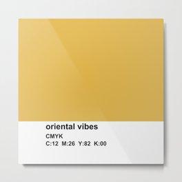 colorblock mustard white, pantone, cmyk Metal Print