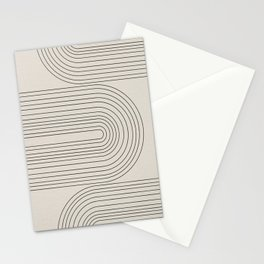 Arch Art, Modern Pattern, Mid Century  Stationery Cards