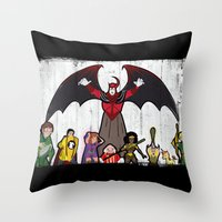 dungeons and dragons Throw Pillows featuring DUNGEONS & DRAGONS by Zorio