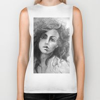 jessica lange Biker Tanks featuring Jessica by Judy Hung