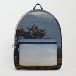 Blue dreams III. Misty mountains Backpack