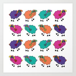Sheepies Art Print