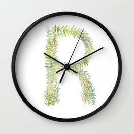 Initial R Wall Clock