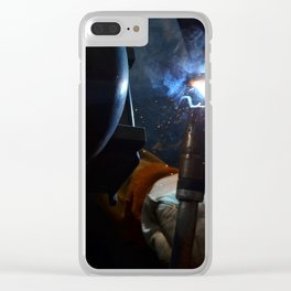Cherry Weld Clear iPhone Case