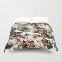 Floral and Leopard Pattern Duvet Cover