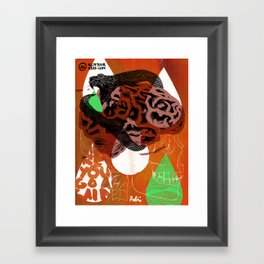 Dark Brains Club Framed Art Print