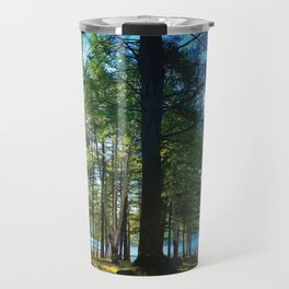 Tree Grove & Lake Sunrise Travel Mug