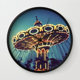 Blue Hour at the Carnival Wall Clock