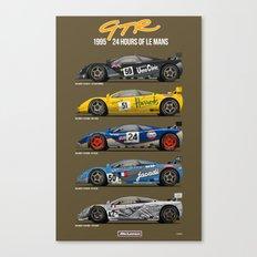 The McLaren 5 - 1995 Le Mans Winner + 4 Finishers Canvas Print