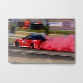 smoking red Metal Print