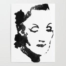 Marlene Dietrich portrait Poster