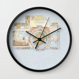 TRAVEL NIK0N Wall Clock