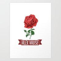 alex vause Art Prints featuring Alex Vause 1 by leeann walker illustration