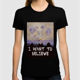 I Want to Believe painting T-shirt