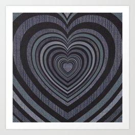 Loving hearts  decollage Art Print