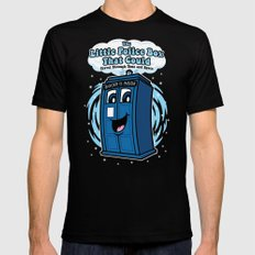 The Little Police Box Mens Fitted Tee Black MEDIUM