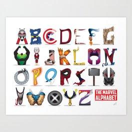 The ABC of the MCU - Horizontal Art Print