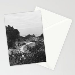 B&W McWay Falls, CA Stationery Cards