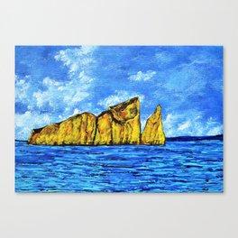 Kicker Rock (León Dormido) Galapagos Canvas Print