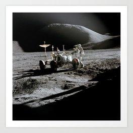 Apollo 15 - Moonwalk 1971 Art Print