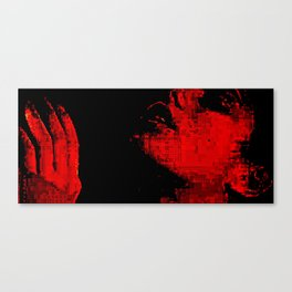 glitch kiss Canvas Print