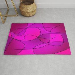 ABSTRACT CURVES #1 (Purples, Violets, Fuchsias & Magentas) Rug