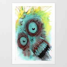 Frenzied Zombie Art Print