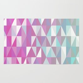 Purple Turquoise Rhombus - Pattern Rug