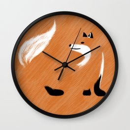 Unique Fox Design Wall Clock