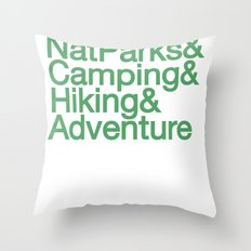 National Parks & Hiking & Camping & Adventure Throw Pillow