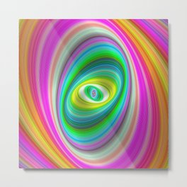 Lollipop Candy Elliptical Fractal Art Design Metal Print
