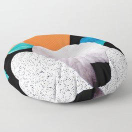 Paper mountains Floor Pillow