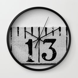 number 13 Wall Clock