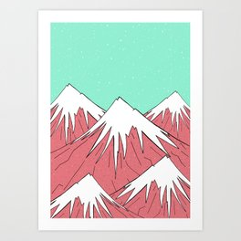 The mountains and the sky Art Print