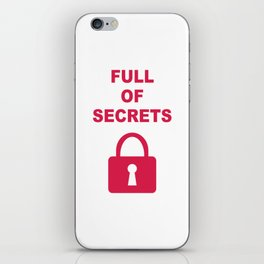 Full of Secrets Lock iPhone Skin