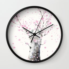 Cherry Blossoms And Birds Wall Clock
