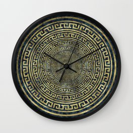 Circular Greek Meander Pattern - Greek Key Ornament Wall Clock