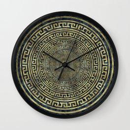 Circular Greek Meander Pattern - Greek Key Ornament Wall Clock