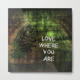 Love Where You Are Metal Print